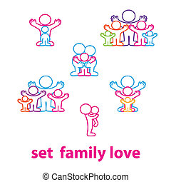 set-family-love - Collection of icons - the love family:...
