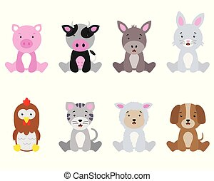 set farm animals