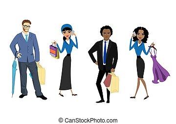 Set fashion shoppers,