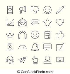 set., feedback, icone