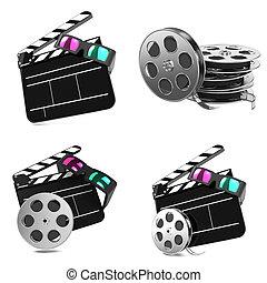 set, film, -, concetti, illustrations., 3d