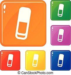 set, financiën, iconen, kleur, vector, boekhouding