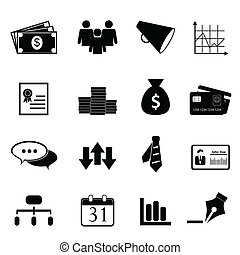 set, financiën, zakelijk, pictogram