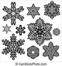 set., fiocco di neve, inverno