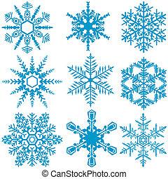 set, fiocco di neve