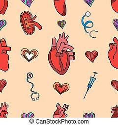 set flat human organs icons illustration concept. Vector background design