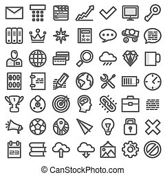 Set flat icons. Vector illustration