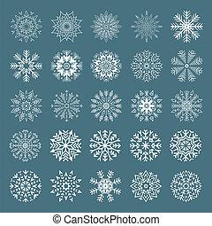 set., flocons neige