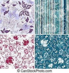 Set floral pattern