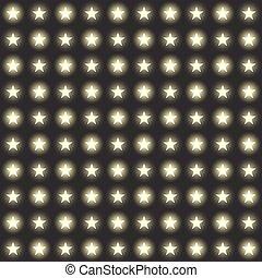 set, fondo, luce, seamless, fondo., vettore, stelle, garlands, trasparente