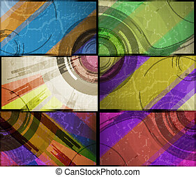 set for abstract vector background, technology futuristic illustration eps10