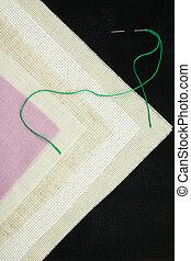 Set for cross stitch. Canvas.