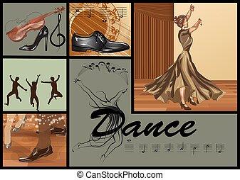 set for dance