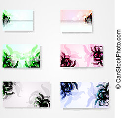 set for floral vector background, abstract stylish illustration eps10