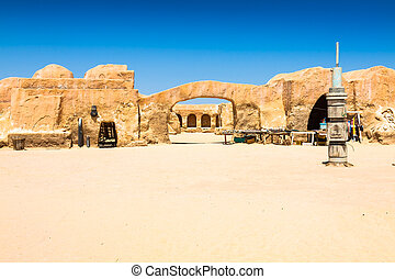 Set for the Star Wars movie still stands in the Tunisian ...