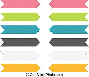 set, frecce, colorito