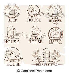 set, fresco, schiuma, vivere, birra
