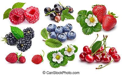 Set fresh berries healthy food fruit