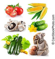 Set fresh vegetables