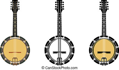 Set From A Musical Instrument - Vector illustration. It is...