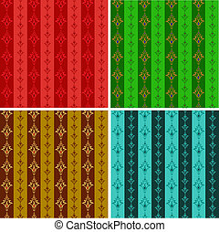Set from abstract seamless wall-paper in different color