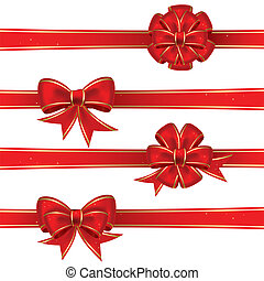 Set from bows - Set from red christmas bows