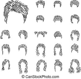 Set from hairdresses