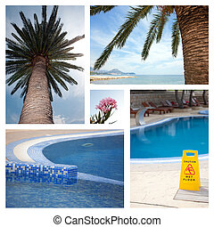 Set from photos illustrating tourism
