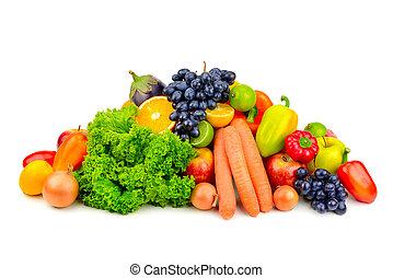 set fruit and vegetables