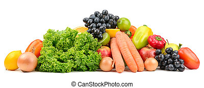 set fruit and vegetables