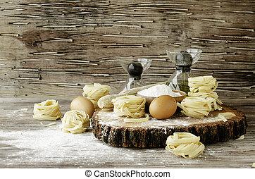 set, frumento, cottura, fuoco, farina, selettivo, prodotti, pasta