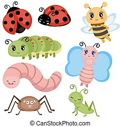 Set funny insects.