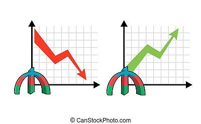 set, geld., omzet, dons, citaten, markt, grafiek, valuta, verhogen, arrow., reductie, infographics, rood, zakelijk, rijzen, azerbaijan, kasgeld., herfst, oil., op, manat, koersen, groene, volumes