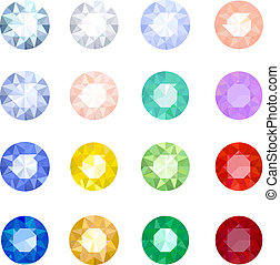 Set gemstones