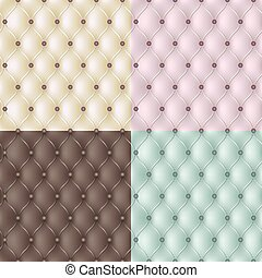 Set genuine leather texture in 4 colours. Vector