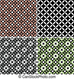 Set geometric seamless patterns (