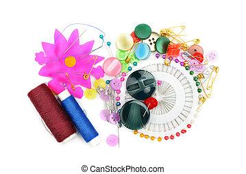 set, gereedschap, naaiwerk