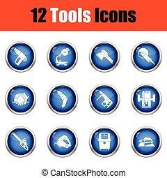 set., gereedschap, pictogram