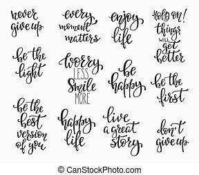 set, gezin, bekleding, positief, fotografie, citaten