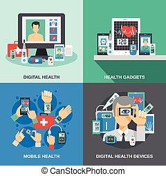 set, gezondheid, digitale