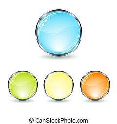 set glass button