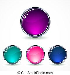 set glass buttons