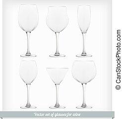 Set glass wine