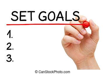 Set Goals List Concept