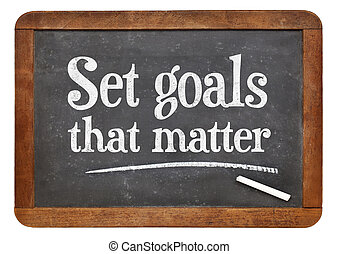Set goals that matters on blackboard