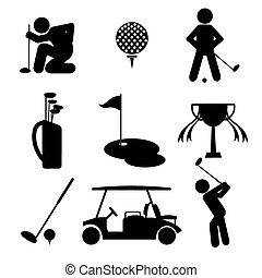 set., golfe, ícone