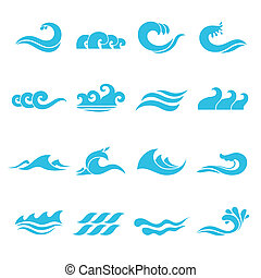 set, golven, iconen
