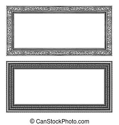 set gray frame isolated on white background , clipping path