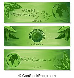 Set green banners for World Environment Day