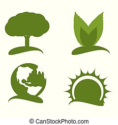 set green icon for planet conservation